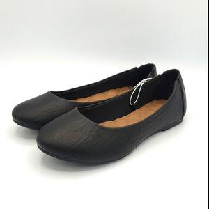 Jellypop black Elsa ballet flats round toe shoes